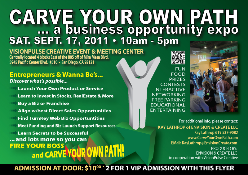 carve your own path    a business opportunity expo